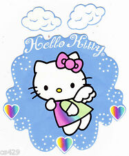 """5.5"""" HELLO KITTY ANGEL & CLOUDS CHARACTER  PREPASTED WALL BORDER CUT OUT"""