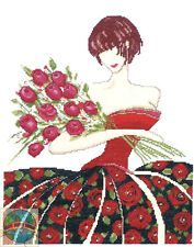 Cross Stitch Kit Design Works Rosa Contemporary Art Woman Elegant Dress #DW2434