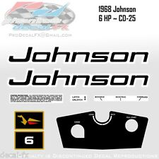 1968 Johnson 6 HP CD-25 Sea Horse Outboard Reproduction 8 Piece Vinyl Decals