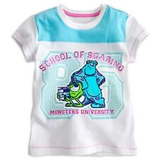 DISNEY STORE MU SULLEY & MIKE DELUXE EMBELLISHED TEE NWT GIRLS SIZE 4