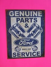 tin metal decor gas oil dealer garage repair shop advertising petroleum piston