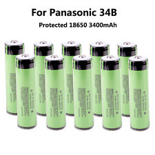 Genuine 10PCS Protected Panasonic NCR18650B 3400mAh 18650 Rechargeable Battery