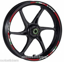 DUCATI Monster Nuova - Adesivi Cerchi – Kit ruote modello tricolore corto