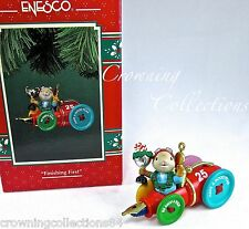 Enesco Mouse in Race Car Finishing First Treasury of Christmas Ornament Mice 1st