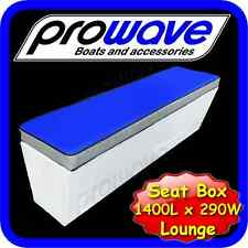 Boat rear lounge or seat box 1400L x 290W x 365H - Mid Blue