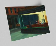 ACEO Edward Hopper Nighthawks Canvas Giclee Print