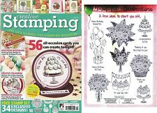 CREATIVE STAMPING ISSUE 29 FREE FAMILY CELEBRATION A4 STAMP SET + 56 TUTORIALS