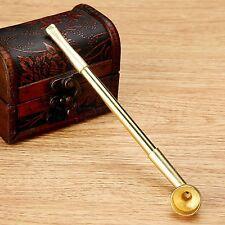 Retractable Copper Rod Straight Type Tobacco Smoking Pipe Cigarette Filter Retro