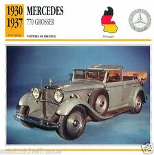 MERCEDES 770 K GROSSER 1930 1937 CAR VOITURE GERMANY DEUTSCHLAND CARD FICHE