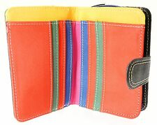 Ladies Nappa Leather Wallet Purse & Credit Card Holder With Zip Up Coin Purse