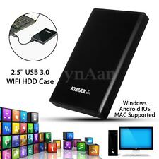2.5'' USB3.0 WIFI SATA HDD Hard Drive Case Enclosure NAS Network Wireless Router