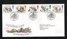 GB 1993 Christmas FDC Bethlehem Llandeilo postmark set stamps