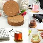 4 Inch Natural Plain Cork Coasters Round Circle Drink Cup Mat Pack of 6