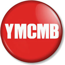 "YMCMB 25mm 1"" Pin Button Badge Young Money Cash Money Billionaires Records Rap"
