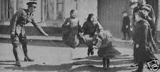 "British Army Soldiers Skipping French Children World War 1, 7x3"" Reprint Photo"