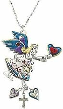 ANGEL Color Art Ganz Car Charm w/ Dangle Charms & Chain for Rearview Mirror