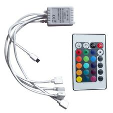 DC12/24V Doppel-Ausgang Mini 24Key IR Remote RGB LED Strip Light-Controller