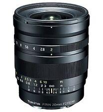Tokina Firin 20 mm F2 MF Lens for Sony FE for Hybrid Black