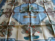 Hermes silk scarf,  BONSAI  , NEW with its box.