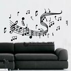 Music Notation Notes Wave Kids Removable Wall Art Stickers Vinyl Decal Decor DIY
