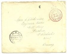 1934  EGYPT CROWN POSTAGE PREPAID 23 ON MPO CAIRO COVER TO KENT BR FORCES STAMP