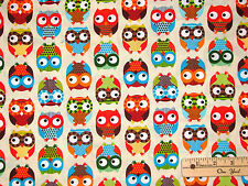 Polka Dot Owl Hoot Timeless Treasures Fabric by the 1/2 Yard  BTHY