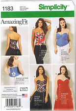 Amazing Fit Lace Up Boned Corsets Bustier Costume Sewing Pattern 20 22 24 26 28