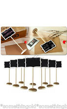 10 x wooden chalk board stands - wedding table numbers, table names, decoration