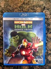 Iron Man  Hulk: Heroes United Blu-ray/DVD,2013, 2-Disc) Authentic US Release