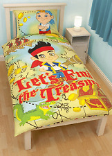 JAKE AND THE NEVERLAND PIRATES TREASURE SINGLE DUVET QUILT COVER BEDDING SET
