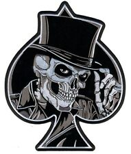 TOP HAT BIKER SKULL Patch groß Aufnäher Aufbügler Backpatch Harley ACE Club 1%