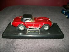 MAJORETTE AC COBRA 427 SCALE 1/24 - REMOVABLE CONVERTIBLE TOP - RED - WITH STAND