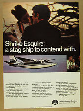 1970 Rockwell Shrike Commander Esquire airplane aircraft photo vintage print Ad