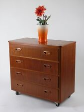 MID CENTURY MODERN DANISH DESIGN DRAWERS CHEST NÄHSCHRANK  KOMMODE 50er 60er