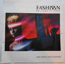 FASHION Twilight Of Idols Very Rare Original Official UK Record Company POSTER