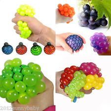 Squishy Mesh Ball Grape Squeeze Toy Gag Gift Novelty in Sensory Fruity Kid Toy
