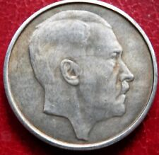 WW2 1944 ADOLF HITLER GERMAN EXONUMIA  5 REICHSMARK SILVERED COIN