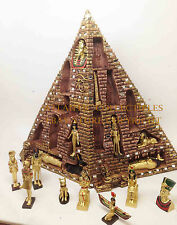 Egyptian Mythology Set of 16 Miniature Tut Horus Anubis Bastet Pyramid Figurine