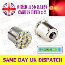ERROR FREE CANBUS SMD BA15S P21W 1156 12V RED REAR TAIL LIGHT BULBS (PAIR)