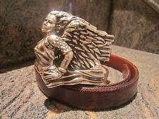 Rare Kieselstein-Cord Sterling Angel Girl Buckle and Lizard Belt