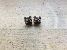 earrings Pug Dog Puppy Studs Nickel Free Handmade Cute Novelty Birthday Gift