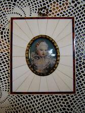Miniaturbild Lupenmalerei auf Bein Schwester von Louis XVI