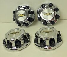 "Set of 4 Chrome Chevy Silverado 2500 Center Caps for 16"" 8 Lug Aluminum Wheels"