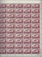 EGYPT 1955 PALESTINE AIR MAIL FULL SHEET OF 50 SG 86a SOME SEPARATION AT TOP SEE