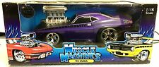 MUSCLE MACHINES 1:18 Scale '70 PLYMOUTH CUDA - Rare HOT Purple - Brand  NEW -