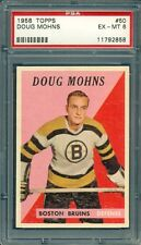 1958 TOPPS HOCKEY DOUG MOHNS #50 BRUINS PSA 6