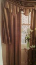 """JCPenney Home 100% Silk Copper Brown Drape Curtain Panel Lined 84"""" - NEW"""
