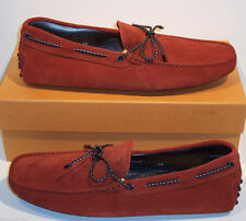 Tod's Size US 11 M (UK 10) Mens Burnt Orange Paprika Suede Driving Loafers Shoes