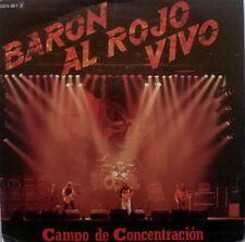 "7"" 1984 SPANISH ROCK MEGA RARE IN MINT- ! BARON ROJO : Campo De Concentration"