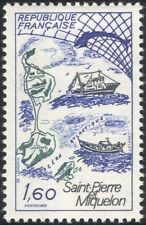 France 1982 Whale/Boats/Fishing/St Pierre-Miquelon/Industry/Tourism 1v (n31115)